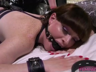 Bad Shemale gets punished by her mistresses.