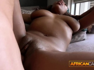 Thick African Girl with Perfect Body Fucks Fake Agent