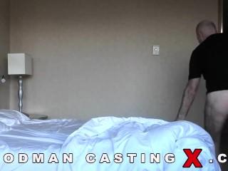 Tall Blonde Babe Rough Gangbanged at Fake Casting Call