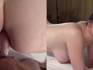 Busty american college babe gets hard anal fucked on casting