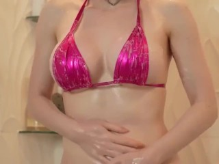 Amouranth Shower Oil Onlyfans