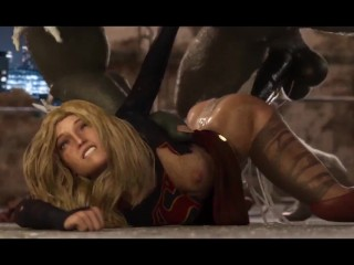 DOOMSDAY VS SUPERGIRL 3D PORN