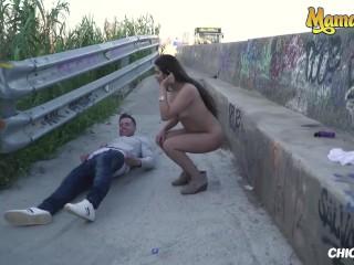 Chicas Loca - Petite Peruvian Teen Girlfriend Outdoor Public Fucking
