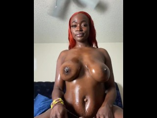 Super thick ebony onlyfans model dildo ride