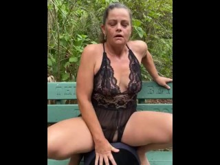 Kinky Mommy Riding Her New Toy At The Park See more.... OnlyFans... KinkyCouple813
