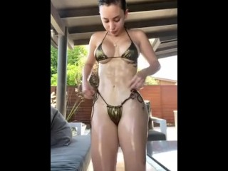 Veronica Perasso's oiled ass. See her Onlyfans videos link in my profile