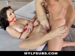 Alana Cruise Tied Up By Bastard Husband For Debt Collector To Use & Fuck
