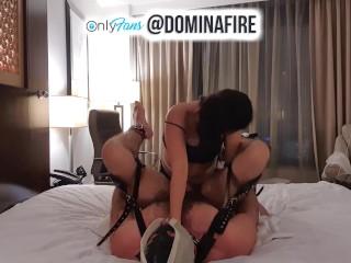 DOMINAFIRE: Strapon Bondage Fun