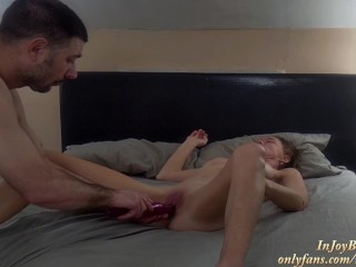 Dominant Husband takes HARD PEGGING - Riding STRAPON Suck- Share DOUBLE SIDED DILDO- Full ONLY FANS