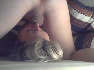 Amateur - handcuffed and throatfucked / abused and throatpied