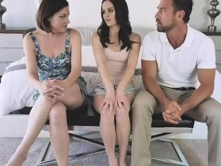 badmilfs - husband and wife fuck the maid