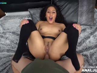 Curly haired beauty Liv Revamped getting shagged on her asshole by Just ANAL powered by Only3x