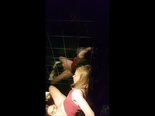 Lesbians caught on the toilet