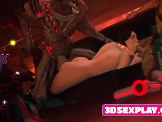 3D Heroes with Huge Massive Boobs Brutal Fuck in All Poses