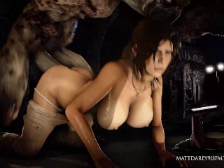 Lara brutal fuck by monster - SFM with sound