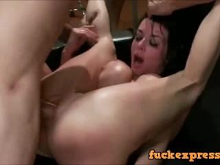 Hot Girl Brutally Fucked and Gang Banged