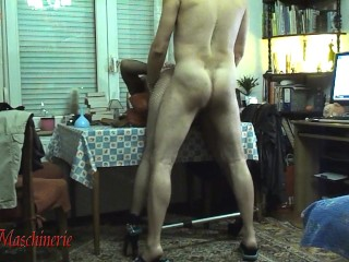Brutal whipping, rope riding and hard fucking penis gagged and cuffed slut