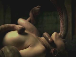 The Untamed Alien - Tentacle Deepthroat 1080p (long version)
